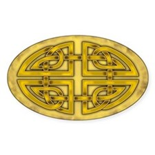 Celtic Knotwork (Gold) Oval Decal