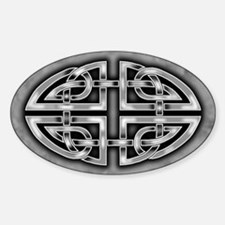 Celtic Knotwork (Grey) Oval Decal