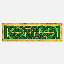 Celtic Knotwork (Green) Bumper Bumper Bumper Sticker