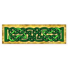 Celtic Knotwork (Green) Bumper Bumper Sticker