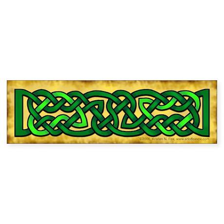 Celtic Knotwork (Green) Bumper Sticker