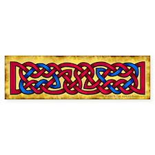 Celtic Knotwork (Red/Blue) Bumper Bumper Sticker