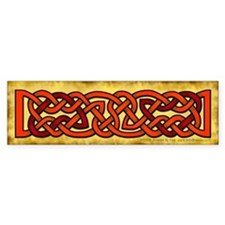 Celtic Knotwork (Red/Orange) Bumper Bumper Sticker