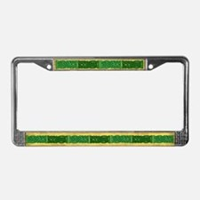Celtic Knotwork (Green) License Plate Frame
