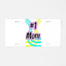 #1 mom-1edge.png Aluminum License Plate
