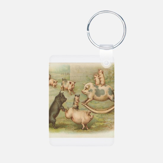 pigs playing.png Keychains