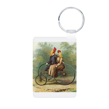 chicks bikes2.png Aluminum Photo Keychain