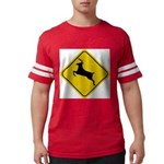 deer-crossing-sign.... Mens Football Shirt