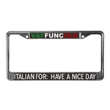 Vaffunculo License Plate Frame