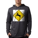 deer-crossing-sign.... Mens Hooded Shirt