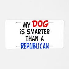 dog smarter republican copy.png Aluminum License P