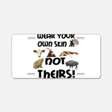 2new wear own skin4.png Aluminum License Plate