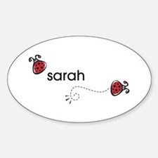 Sarah Oval Decal
