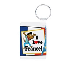 I love france2 black.png Keychains