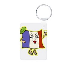 new frenchie square black.png Keychains