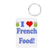 I love french food black.png Keychains