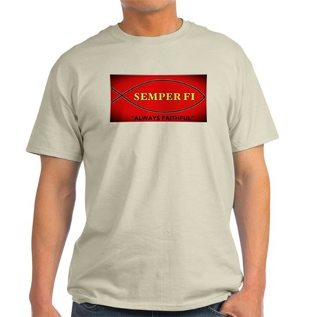 Jesus Fish - Always Fatithful Light T-Shirt