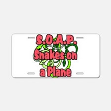 soap with snakes blue.png Aluminum License Plate