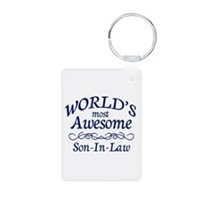 Son-In-Law Aluminum Photo Keychain