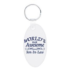Son-In-Law Aluminum Oval Keychain