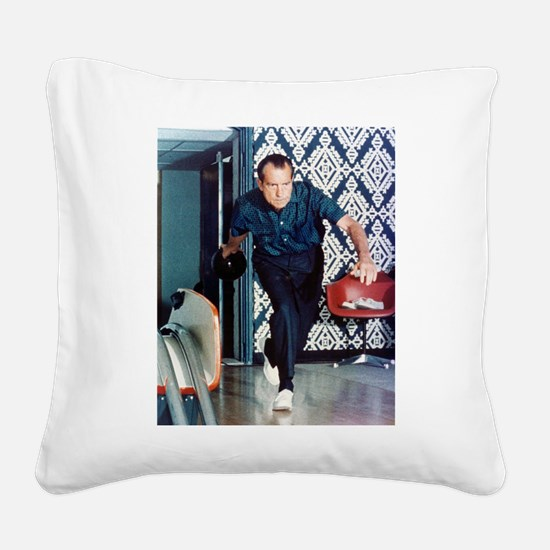 nixon_bowling_5_8.jpg Square Canvas Pillow