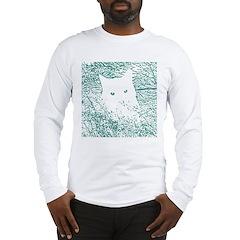 Cat in bluegrass Long Sleeve T-Shirt