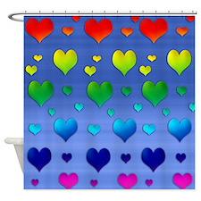 Chakra Heart on Sky Shower Curtain