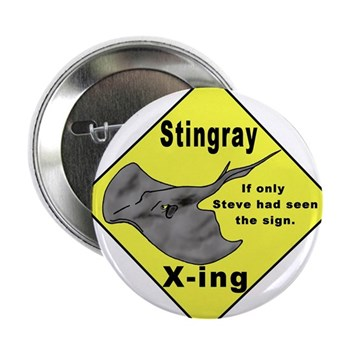 "Stingray X-ing 2.25"" Button (100 pack)"