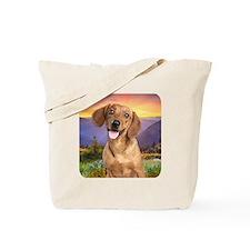 Dachshund Meadow Tote Bag