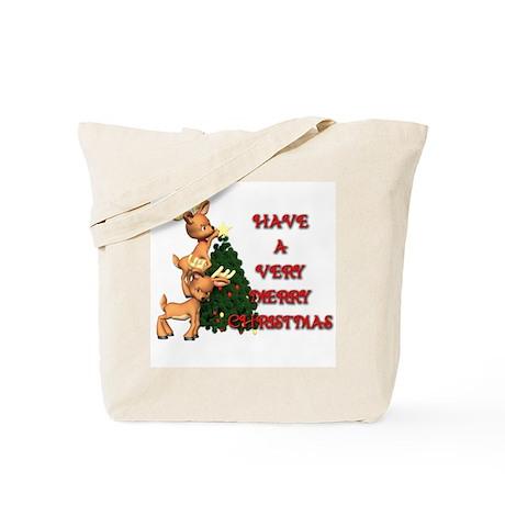 Reindeer Christmas Tote Bag