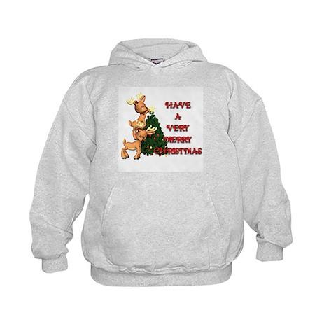 Reindeer Christmas Kids Hoodie