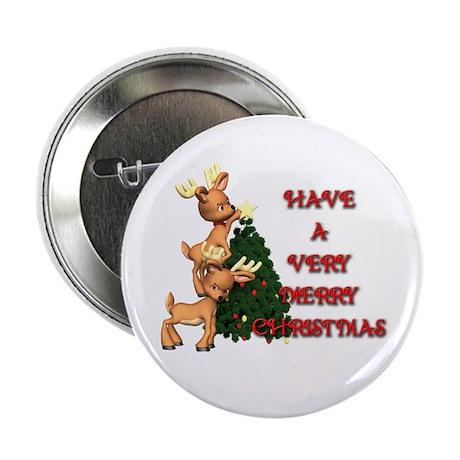 "Reindeer Christmas 2.25"" Button (100 pack)"