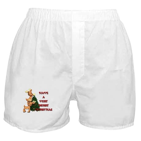 Reindeer Christmas Boxer Shorts