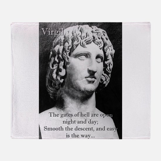 The Gates Of Hell - Virgil Throw Blanket