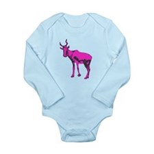 The Magenta Bubal Hartebeest Long Sleeve Infant Bo