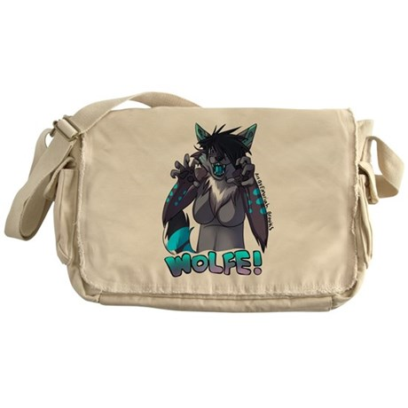 This is my RAWR face! Messenger Bag