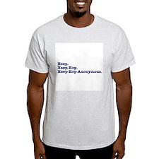 Heep-Hop-Anonymous Ash Grey T-Shirt