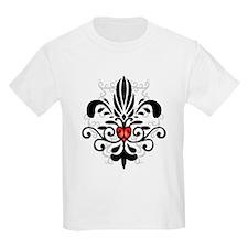 New Orleans Fleur Heart Kids T-Shirt