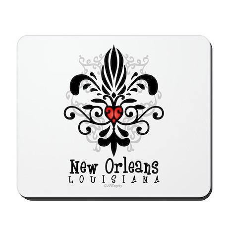 New Orleans Fleur Heart Mousepad