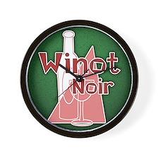 Winot Noir Wall Clock