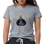 FIN-feather-mask3.png Womens Tri-blend T-Shirt