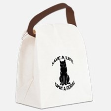 SpayAFeral_button.png Canvas Lunch Bag