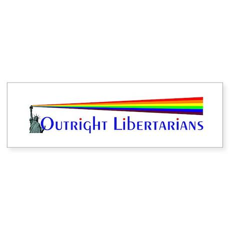 Outright Libertarians Sticker (Bumper)