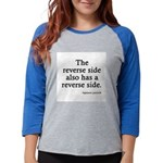 FIN-reverse-side-front.png Womens Baseball Tee
