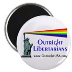 "Outright Libertarians 2.25"" Magnet (10 pack)"