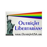 Outright Libertarians Rectangle Magnet (100 pack)
