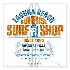 """Laguna Beach Surf Shop Square Car Magnet 3"""" x 3"""""""