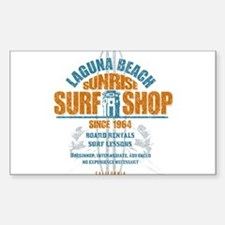 Laguna Beach Surf Shop Sticker (Rectangle)