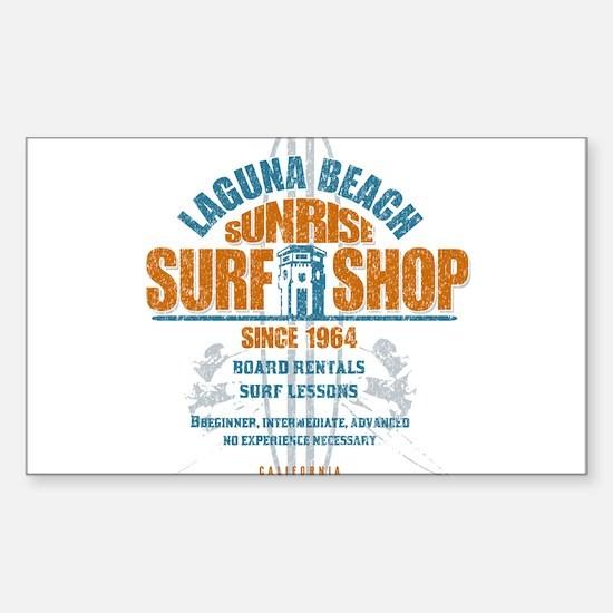Laguna Beach Surf Shop Sticker (Rectangle)