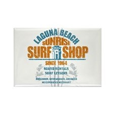 Laguna Beach Surf Shop Rectangle Magnet